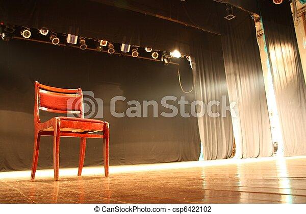 silla, vacío, teatro, etapa - csp6422102