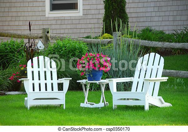 Dos sillas de jardín - csp0350170