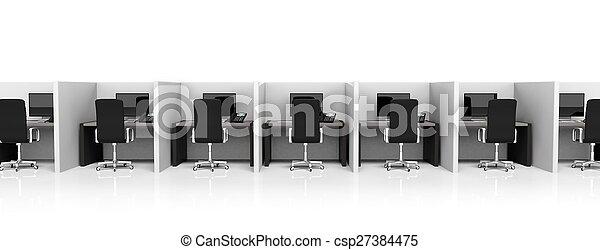 Sillas de la oficina cub culos equipo fondo negro for Cubiculos para oficina precios