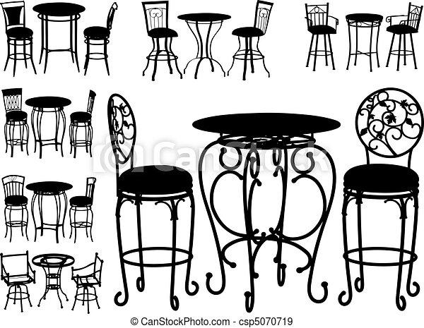 Gran colección de vectores de sillas - csp5070719