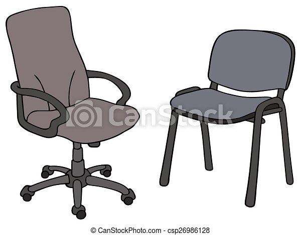 Sillas oficina sill n silla dibujo oficina mano for Sillas anatomicas oficina