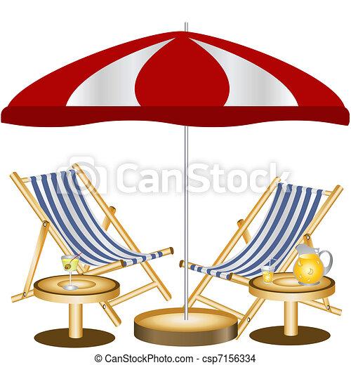 Dos sillas de playa - csp7156334