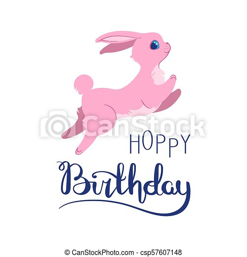Silly Bunny Birthday Card Silly Bunny Poster With Handwritten