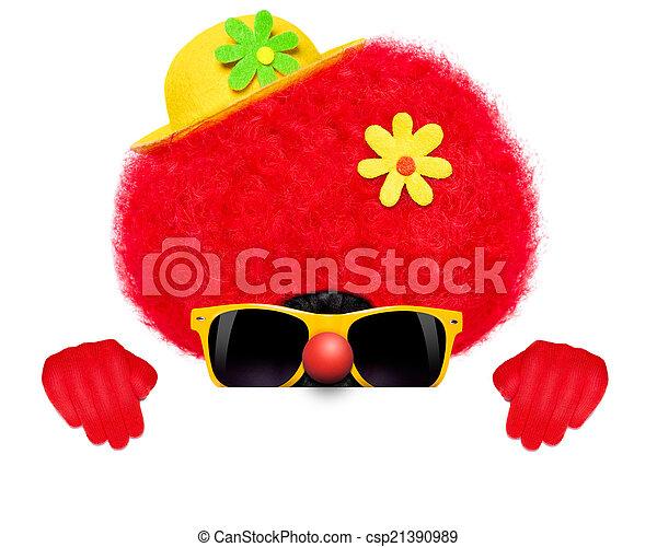 silly clown dog - csp21390989