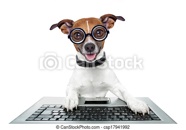 silly computer dog - csp17941992
