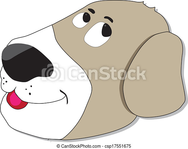 Silly dog face - csp17551675