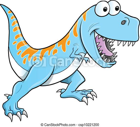 Silly Tyrannosaurus Dinosaur Vector - csp10221200