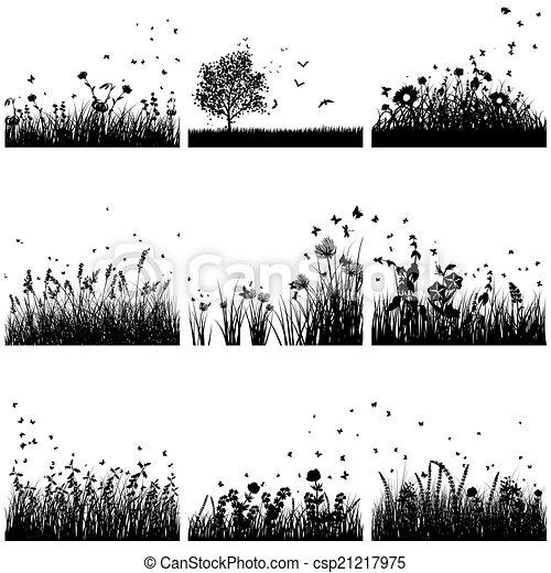 Silueta de hierba preparada - csp21217975