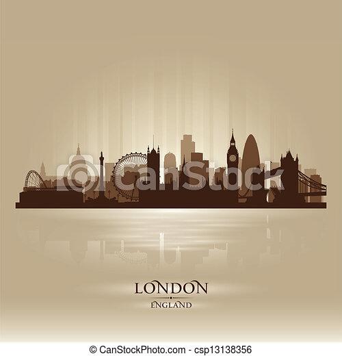 Silueta de ciudad de Londres en Inglaterra - csp13138356