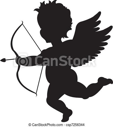 Grficos vectoriales EPS de silueta cupido  Cupid silueta