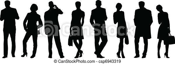 La gente de negocios silueta - csp6943319