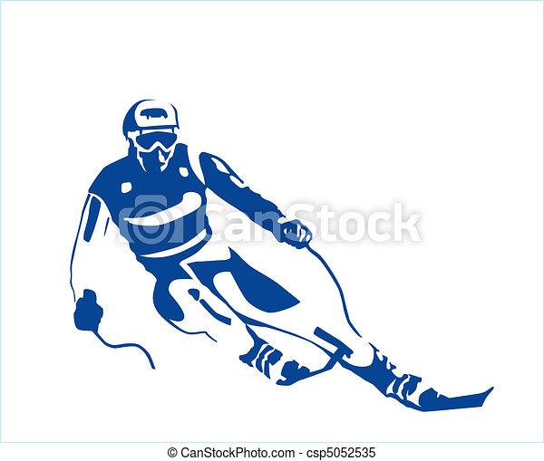 Silueta del esquiador - csp5052535