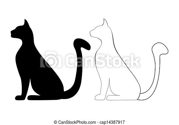 Silueta de gato - csp14387917