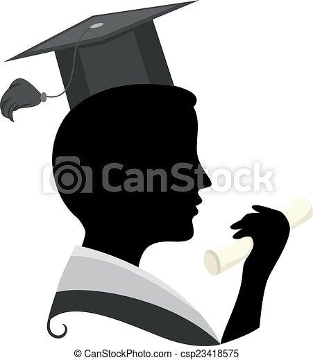 silueta, graduação - csp23418575