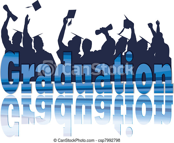Celebración de graduación en silueta - csp7992798