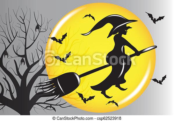 Vector de brujas de Halloween - csp62523918