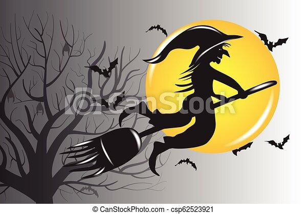 Vector de brujas de Halloween - csp62523921