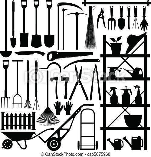 Herramientas de jardinería - csp5675960