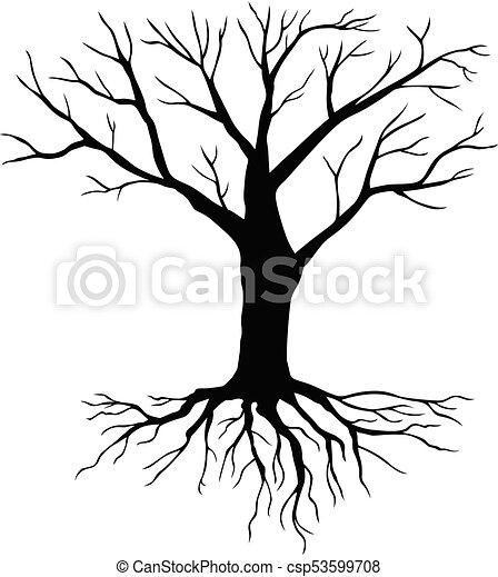 Silueta Hojas Sin árbol Silueta Invierno Hojas árbol Sin