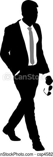 EPS vector de silueta hombre de negocios ilustracin fondo