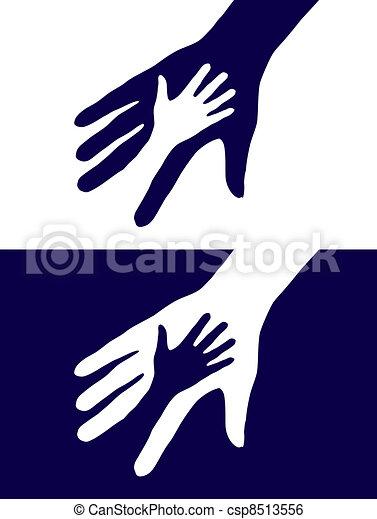 silueta, mãos - csp8513556