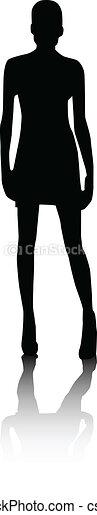 Chicas de moda silueta - csp7926859