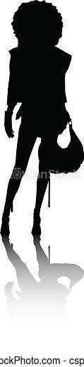 Chicas de moda silueta - csp7926858