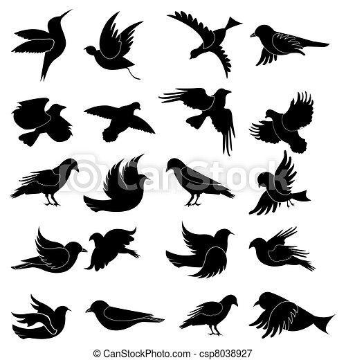 Pájaro silueta - csp8038927