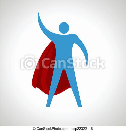 Un icono de dibujos animados súper héroe. Abstracto - csp22322118