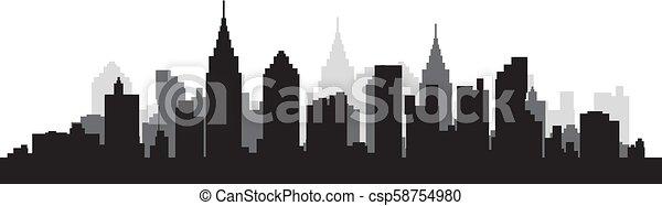 Silueta de la ciudad - csp58754980