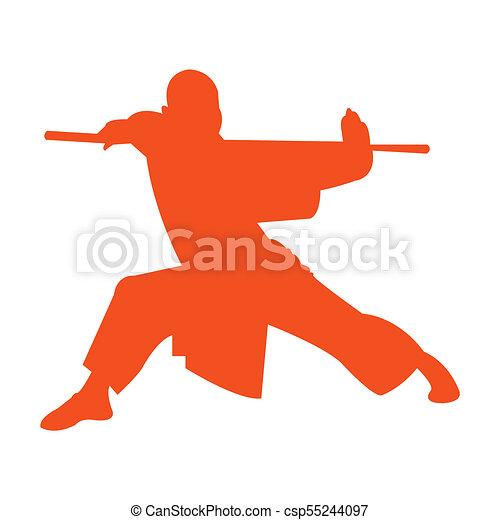 Silueta Shaolin Monge