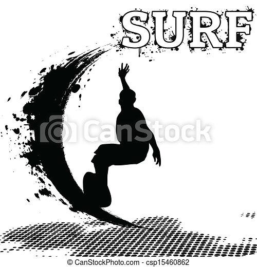 Surfer silueta - csp15460862