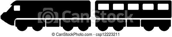 silueta, trem - csp12223211