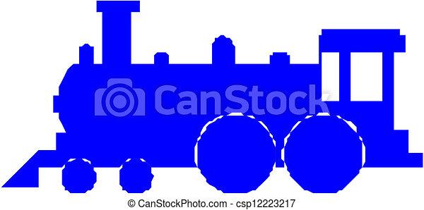 silueta, trem - csp12223217