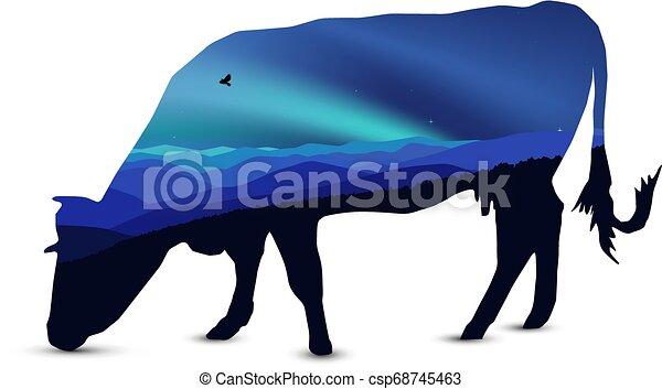 Silueta de vaca - csp68745463