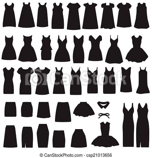 eee7b77d7 silueta, vestido, falda