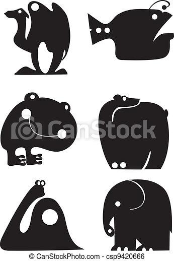 Siluetas animales - csp9420666