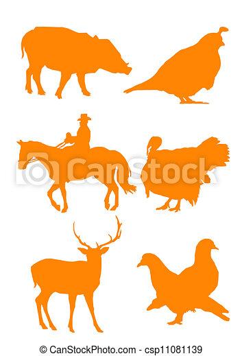 Siluetas animales - csp11081139