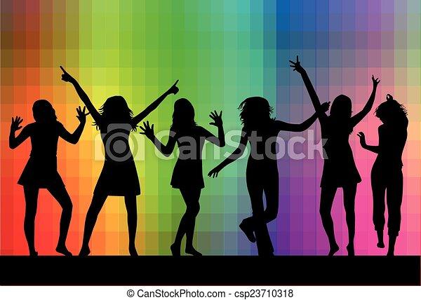 Siluetas bailando - csp23710318