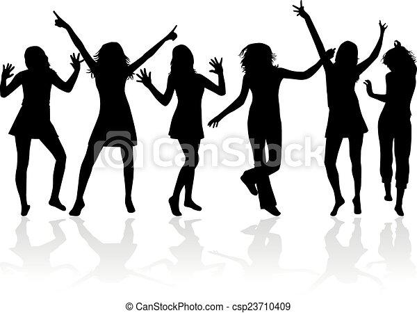 Siluetas bailando - csp23710409