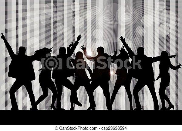 Siluetas bailando - csp23638594