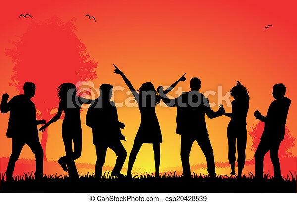 Siluetas bailando - csp20428539