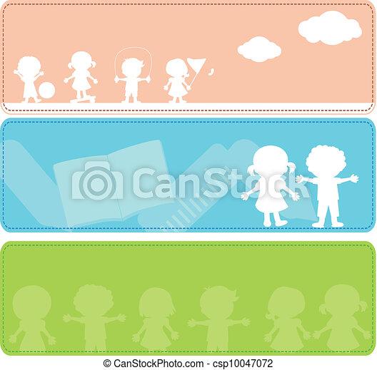 Siluetas para niños - csp10047072