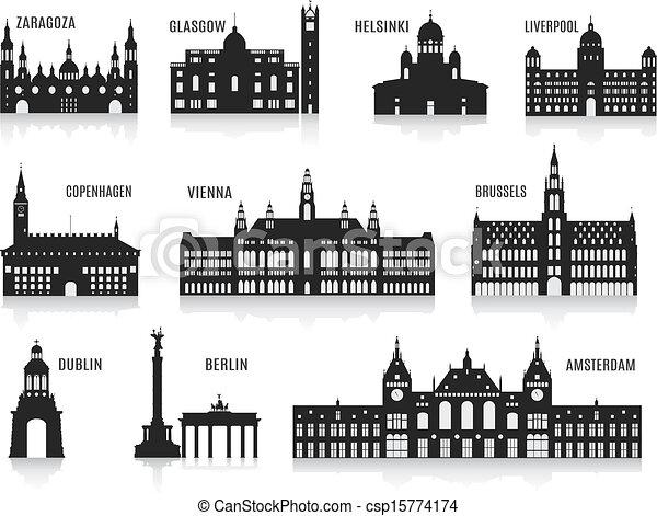 Siluetas de ciudades - csp15774174