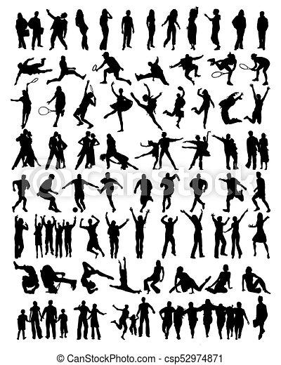 La colección de personas siluetas - csp52974871