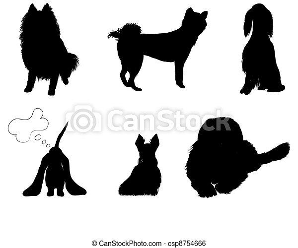 Las siluetas ponen razas de perros - csp8754666