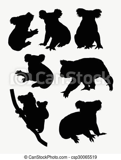 Siluetas de animales Koala - csp30065519