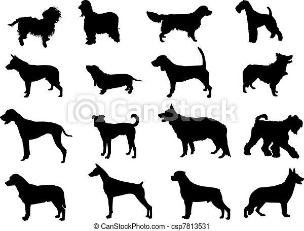 Más siluetas de perros - csp7813531