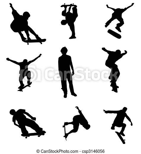 La colección de siluetas de Skater - csp3146056
