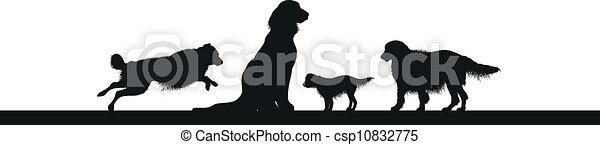 Perros siluetas - csp10832775
